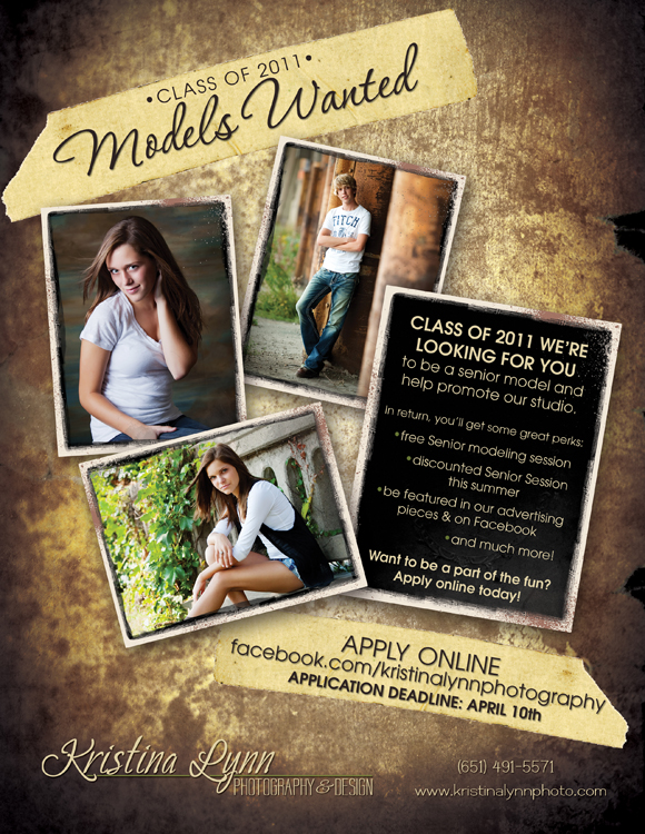 Class of 2011 Senior Models Wanted