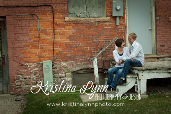 on location engagement session in Clarion Iowa