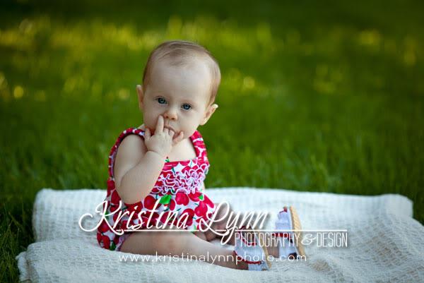 6 month childrens on location portrait photography Clarion Iowa Stillwater MN