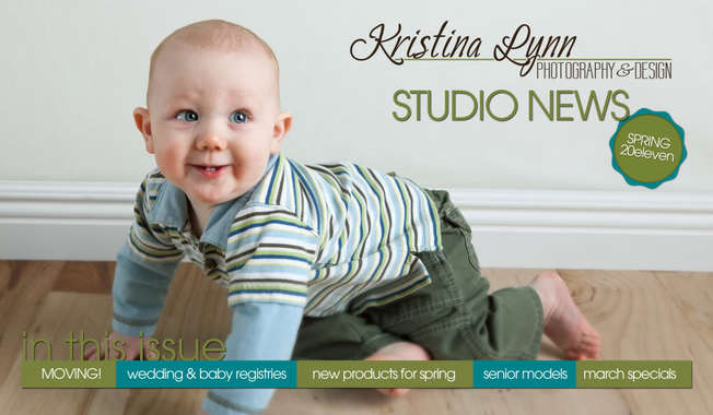 Kristina Lynn Photography & Design Newsletter Cedar Rapids portrait photographer