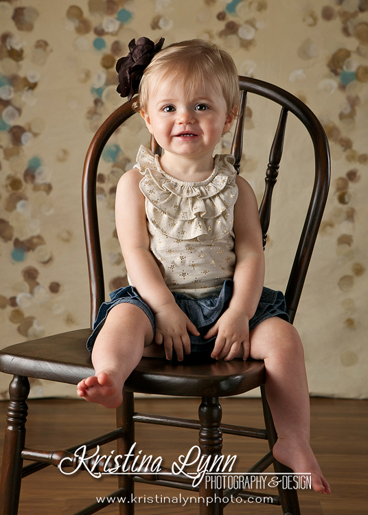 One year old child portrait session in studio by Kristina Lynn Photography & Design based in Denver, CO