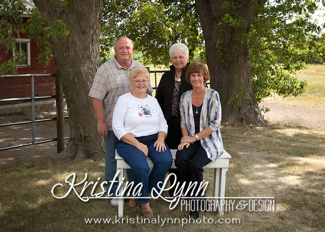 Outdoor family session on an Iowa farm by Kristina Lynn Photography & Design based out of Denver Colorado