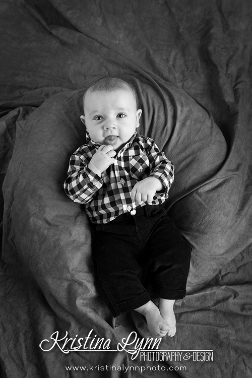 4 month old baby session by Denver based kids photographer Kristina Lynn Photography & Design