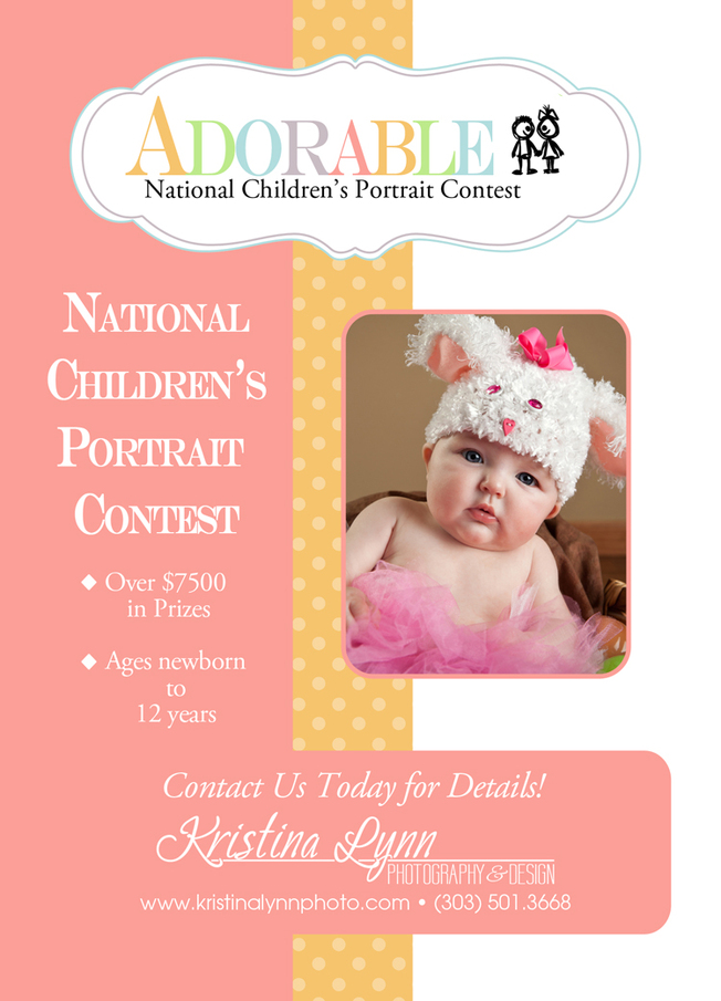 ADORABLE kids photo contest being held by Denver photographer Kristina Lynn Photography & Design
