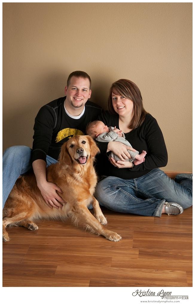 Newborn baby portrait session by Denver photographer Kristina Lynn Photography & Design
