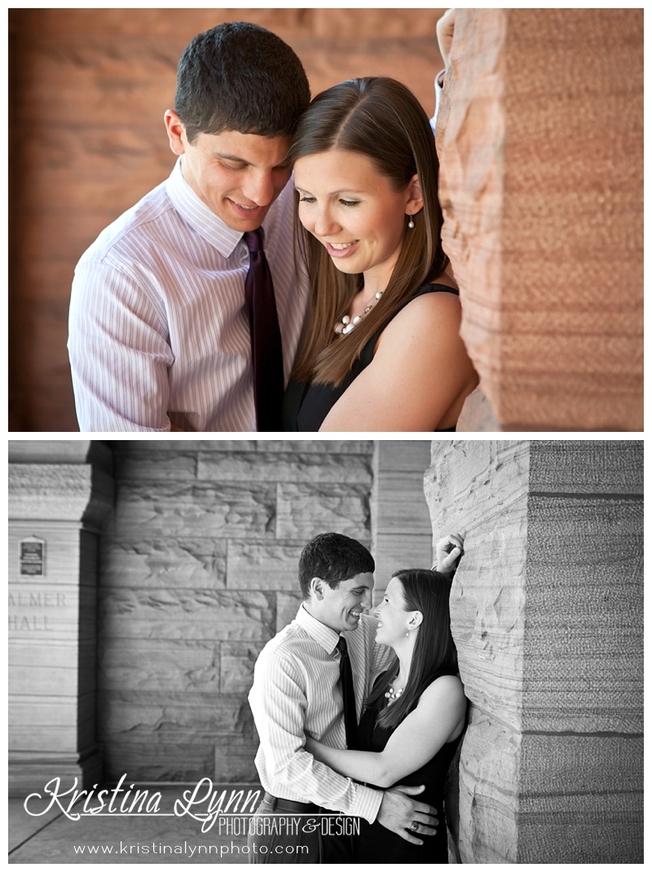 A Colorado Springs wedding engagement photo session by Denver photographer Kristina Lynn Photography & Design.