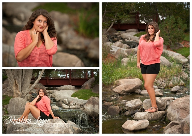A high school senior photography session with Denver, CO photographer Kristina Lynn Photography & Design.
