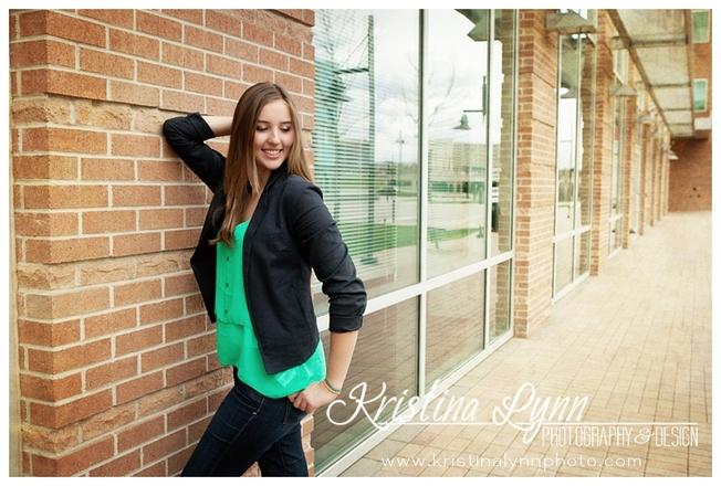 A high school senior portrait photography session with Denver, CO photographer Kristina Lynn Photography & Design.