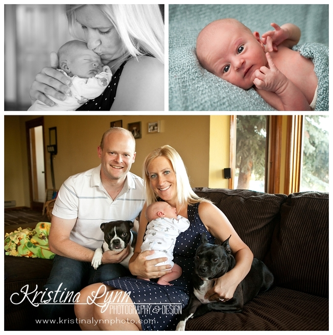 A newborn baby photography session with Denver, CO photographer Kristina Lynn Photography & Design.