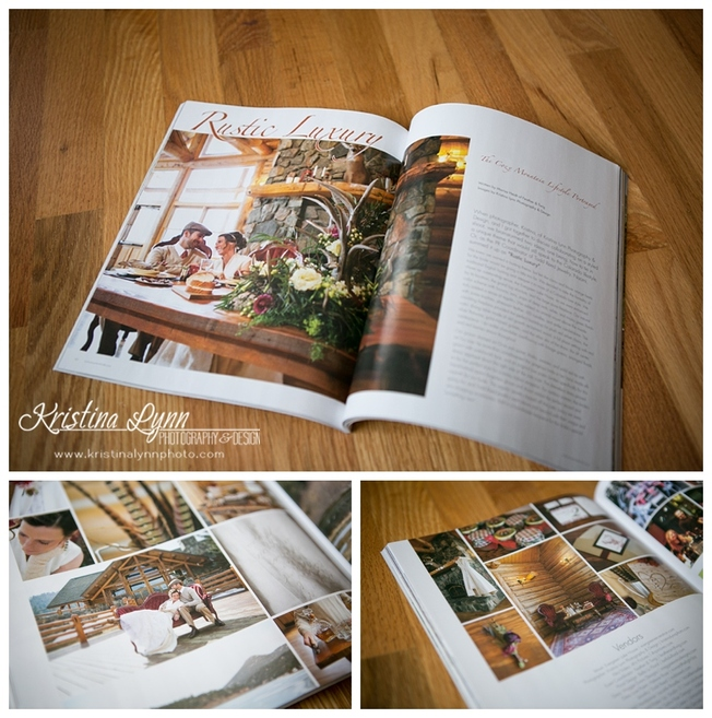 Denver wedding photographer, Kristina Lynn Photography & Design featured on the cover of Rocky Mountain Bride Magazine.
