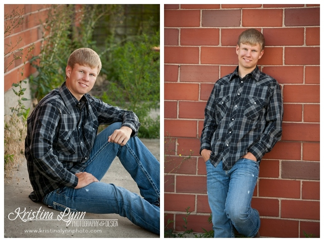 An outdoor high school senior photo session by Denver photographer Kristina Lynn Photography & Design.