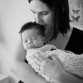 Lifestyle newborn baby and mom photo by Lone Tree photographer Kristina Lynn Photography & Design