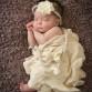 Sleeping newborn baby girl photo by Littleton photographer Kristina Lynn Photography & Design