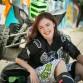 Senior girl photo featuring colorful grafiti by Denver photographer Kristina Lynn Photography & Design