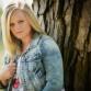 Outdoor high school senior photo in a park by Denver photographer Kristina Lynn Photography & Design