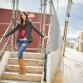 Urban high fashion senior girl photo in downtown Littleton by photographer Kristina Lynn Photography & Design