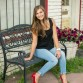 Urban high school senior girl photo in downtown Morrison by Littleton photographer Kristina Lynn Photography & Design