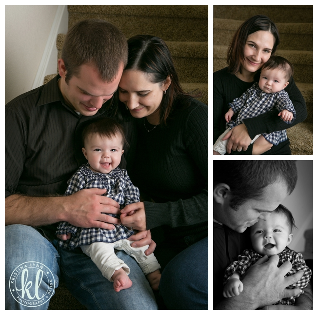 Four month old kids photo session with Denver Colorado photographer Kristina Lynn