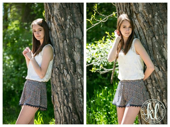 Fashion forward senior photos in a park | Littleton, Colorado | Denver senior photo by Kristina Lynn Photography & Design