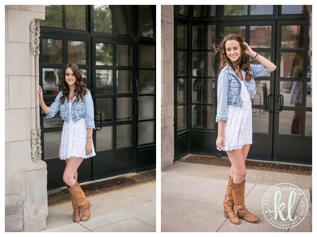 Urban high school senior photo in downtown Littleton, Colorado | High school senior photographer Kristina Lynn Photography & Design