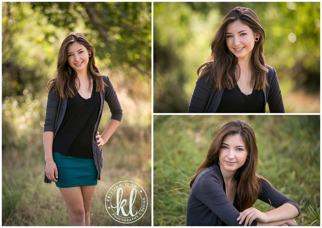 An outdoor park provided the perfect background for this teen girl