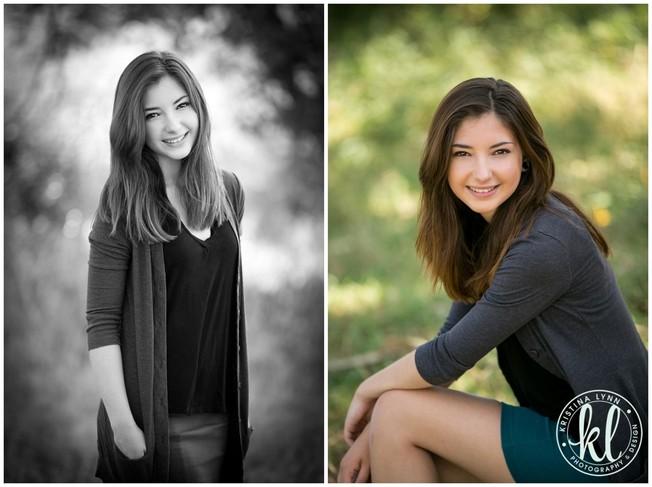 Casual high school senior photos | By Kristina Lynn Photography & Design