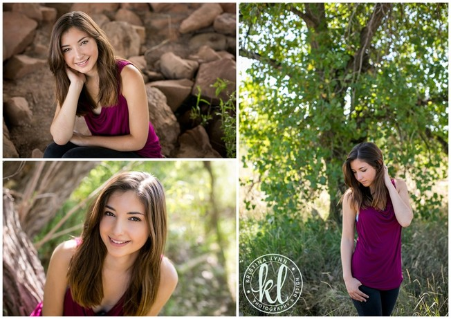 High school senior girl photographed in a natural setting at a park in Littleton, Colorado | Photos by Kristina Lynn Photography & Design