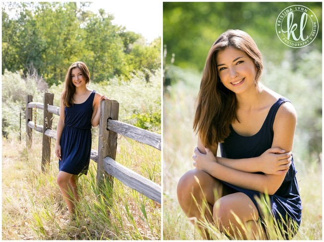 High school senior girl standing in a field of tall grasses in Littleton, Colorado | Image by Kristina Lynn Photography & Design.