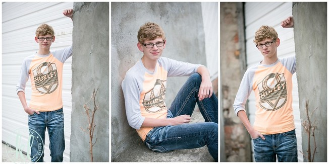 I love the subtle texture of this cement wall in an alleyway in Clarion Iowa. Perfect location for senior photos.   Image by Kristina Lynn Photography & Design.
