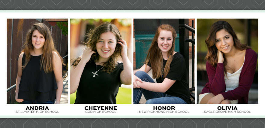 Meet my high school senior model team representing the Class of 2018 at both my Stillwater, Minnesota and Clarion, Iowa locations.