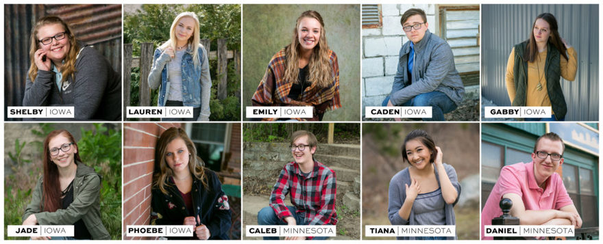 Casual and relaxed high school senior photo studio in Clarion iowa and Stillwater Minnesota.