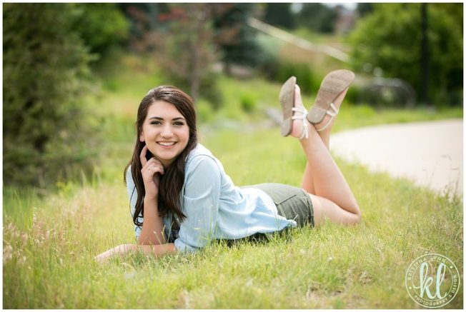 High school senior girl photographed in a park in Minnesota.