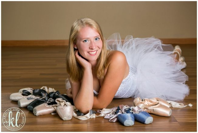 A high school senior photographed in a portraits studio in Clarion Iowa.