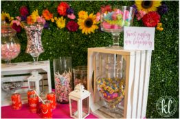 A candy buffet is a great way to do graduation party food on a budget. Image by Kristina Lynn Photography & Design.
