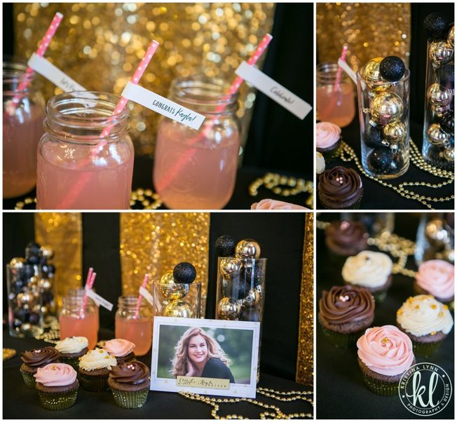 How about a glam Kate Spade inspired graduation party theme. Photographed by Stillwater, MN photographer Kristina Lynn.